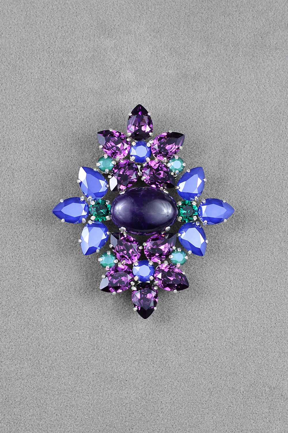 with on leather booking violet brooches shop handmade brooch livemaster online item buy your