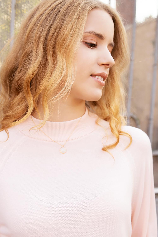 24k gold plated josephine necklace minimal moonstone