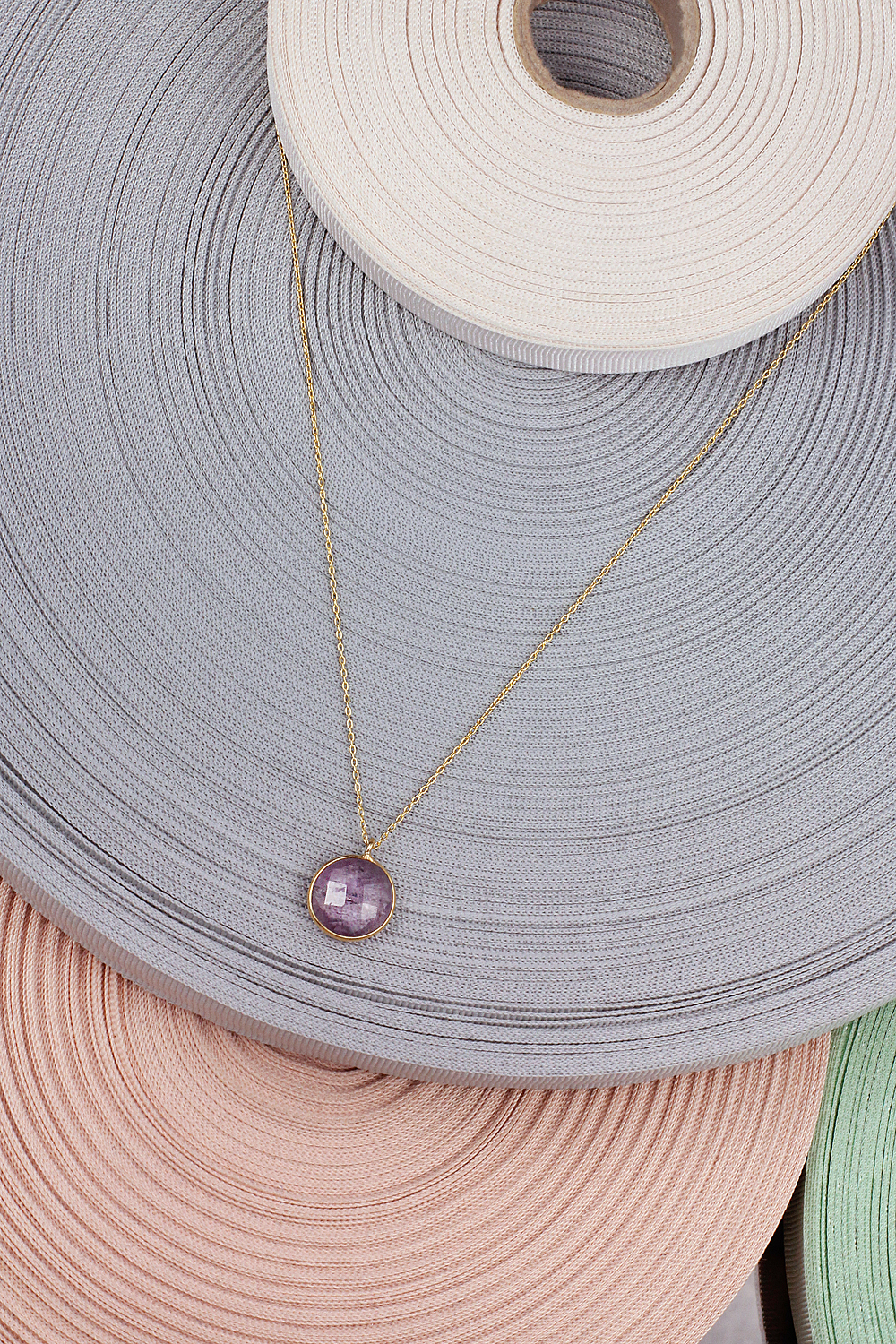 24k gold plated josephine jn09m18 necklace minimal amethyst